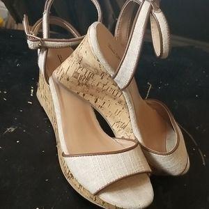 Call it Spring cork wedge heel shoe
